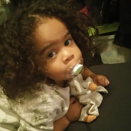 Today she is the model not me 😍 InLoveWithMyBabyGirl Babygurl Mestiss Baby family love cute hairy kid