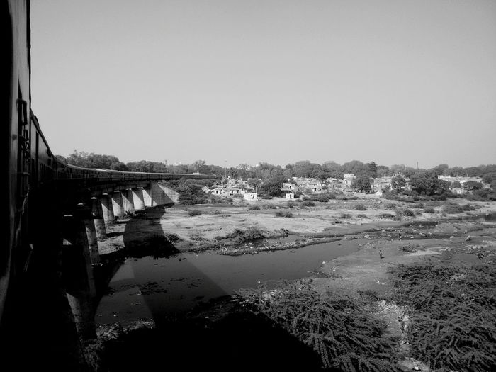 returning from mumbai Rajkotian Rajkot Train Fromtrainwindow. Overbridge River Onriver MyLove❤ Popular Photos EyeEm Best Shots EyeEm Nature Lover Waterreflections  Indianrailways Indianrailway Indianrail EyeEmNewHere Perspectives On Nature Black And White Friday An Eye For Travel