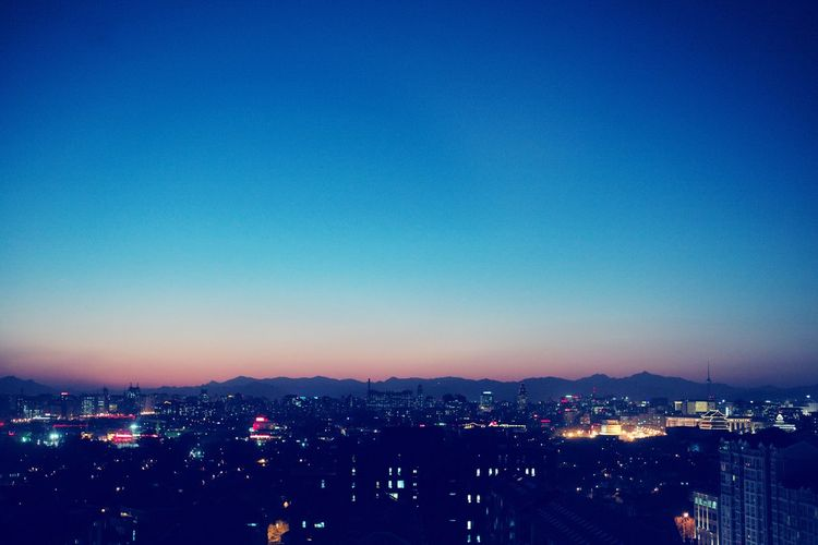 sunset Leicacamera Cityscape Architecture Blue Clear Sky Outdoors Urban Skyline Sky No People Nature Night Night Photography Capture The Moment EyeEm Leicam 50mm Beijing