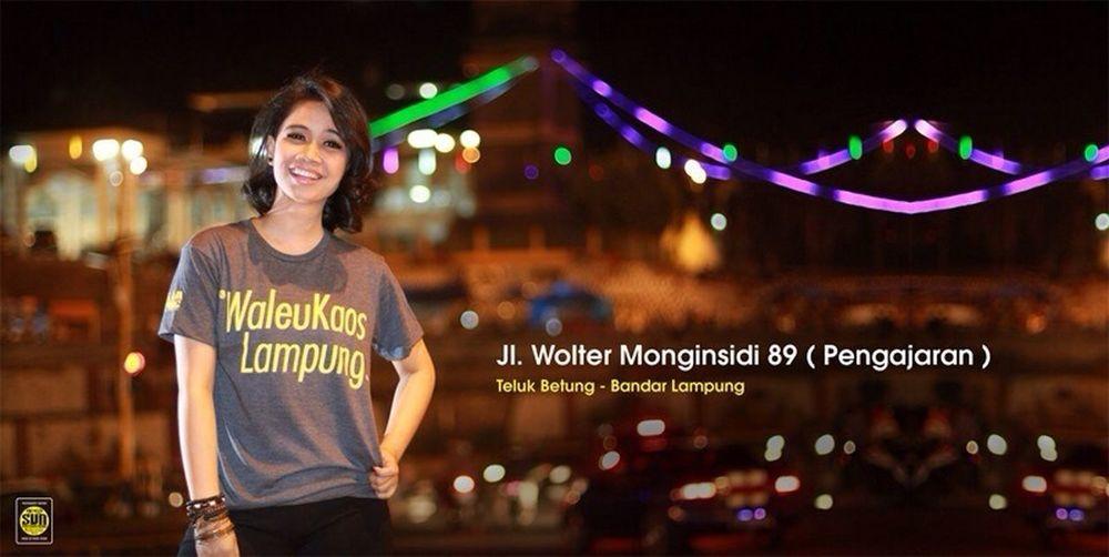 Kunjungi Gerai Waleu Kaos Lampung, Jl. Wolter Monginsidi 89 (Pengajaran) Teluk Betung, Bandar Lampung