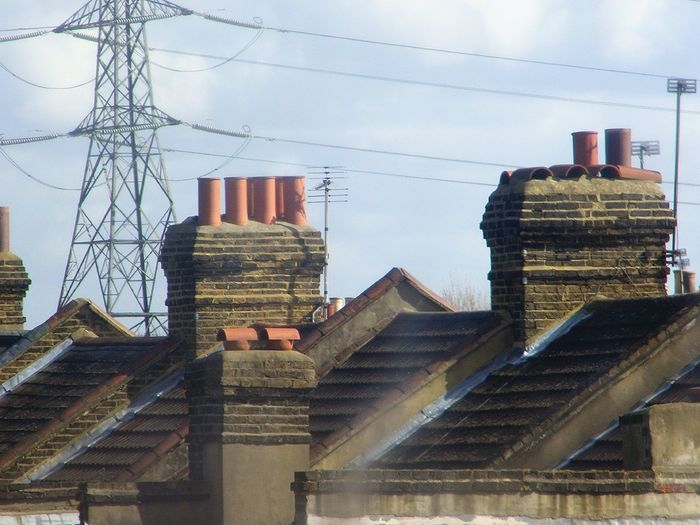 London Rooftops....Not many appreciate this view 😊 Chimney Mary Poppins Chimney Sweep My Unique Style Rooftops Cityscape Unique From My Window Skyscraper Cable Connection Power Line  Built Structure Architecture Low Angle View Day Electricity  Electricity Pylon No People Building Exterior Outdoors Sky EyeEmNewHere EyeEm Ready