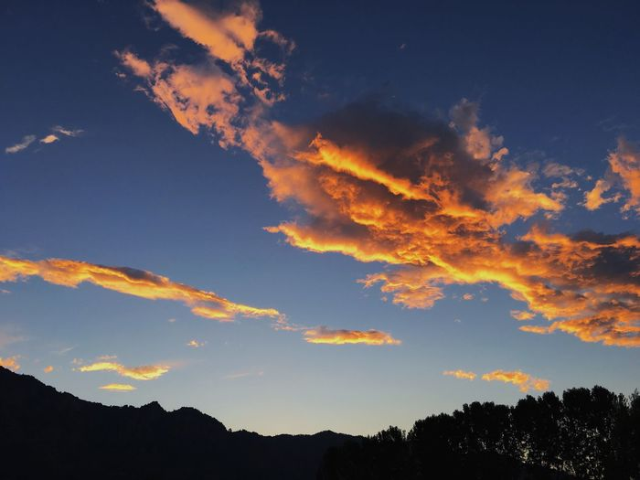 Sunset in Piedmont Beauty In Nature Cloud - Sky Dramatic Sky Environment Idyllic Low Angle View Mountain Nature No People Non-urban Scene Orange Color Outdoors Plant Scenics - Nature Silhouette Sky Sunset Tranquil Scene Tranquility Tree
