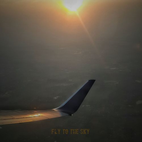 Fly to the sky From An Airplane Window Travelling Clouds And Sky Hello World
