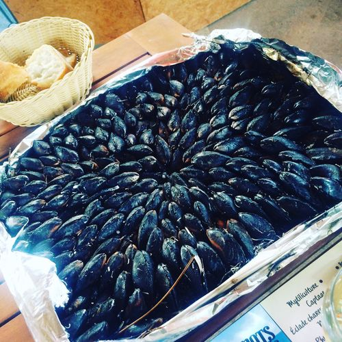 Food And Drink Food Freshness High Angle View Moules Eglade