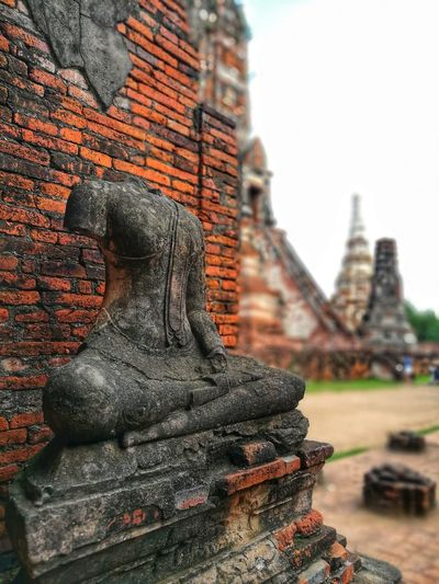 Statue Sculpture Place Of Worship Spirituality Religion Ancient Civilization History Business Finance And Industry Architecture Building Exterior Male Likeness Pagoda Human Representation Old Ruin Idol Sculpted Jesus Christ Female Likeness Bagan Wat Pho Ganesha Buddhism Angel Ayuthaya Province Stupa Golden Color Carving - Craft Product Buddha Civilization Amphitheater