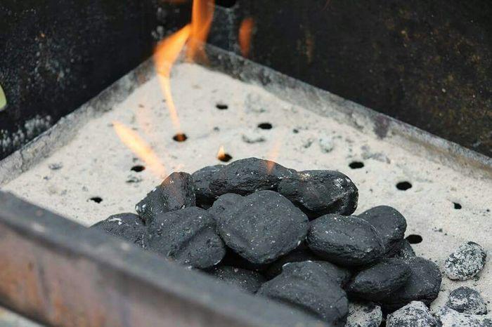 BBQ Burning Coals Hot Coals