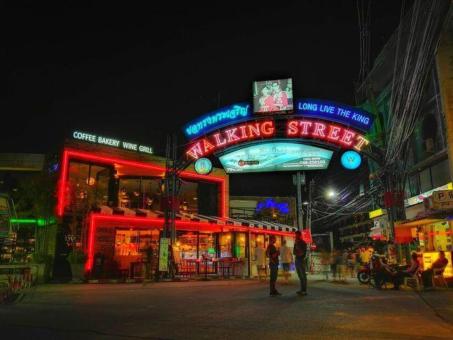 Walkingstreet Night Neon Travel Illuminated City Pattaya Pattaya Thailand Travel Destinations Night Photography Nightshot Night Lights EyeEm Best Shots