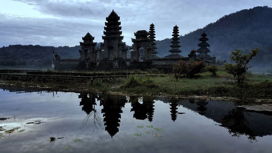 Pura Ulun Danu Tamblingan, on reflection Reflection Water Lake EyeEm Selects Tamblingan Bali, Indonesia Pura Ulun Danu Tamblingan Blue Beauty In Nature Outdoors Landscape Tamblingan Lake Nature No People Sky Pura