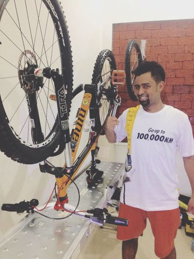 My own home bike workshop hahaha MTB GoodyearIndonesia RyanAzhar Engineer Adpchallenge Goodyear
