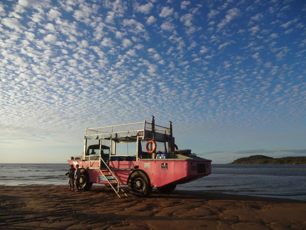51 days driving around Australia - Day 47 Town of 1770 Amphibious Vehicle Beach Horizon Over Water Mode Of Transport Nautical Vessel Sea Transportation