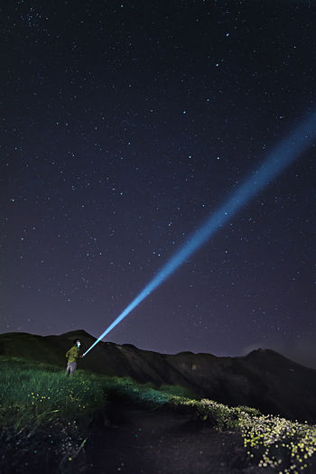 Etna Man Nightphotography Adventure Astronomy Beauty In Nature Field Land Landscape Nature Night No People Outdoors People Scenics - Nature Sky Space Star Star - Space Star Field Stars Tranquil Scene Tranquility