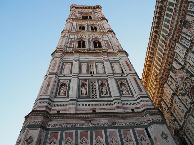 Cathedral Santa Maria del Fiore in Florence Architecture Building Exterior Built Structure Church Architecture Clear Sky Day History Italy Low Angle View No People Outdoors Place Of Worship Religion Religion And Beliefs Sky Spirituality Travel Destinations