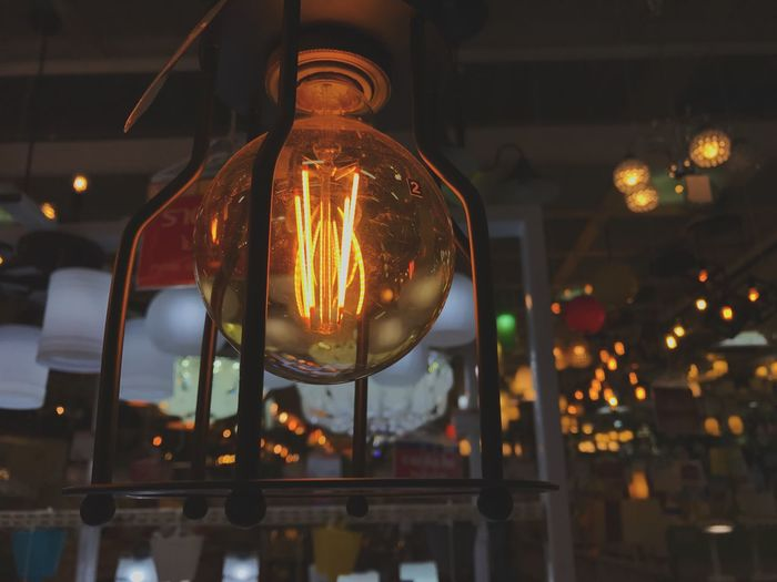 Bulb Ceiling Close-up Decoration Electric Lamp Electric Light Electricity  Filament Focus On Foreground Glass Glass - Material Glowing Hanging Illuminated Indoors  Light Light - Natural Phenomenon Light Bulb Lighting Equipment Night No People Transparent