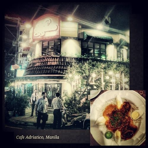 The Iconic Cafe Adriatico in Malate and its famous Pancit Palabok. Manila Cafesociety Malate