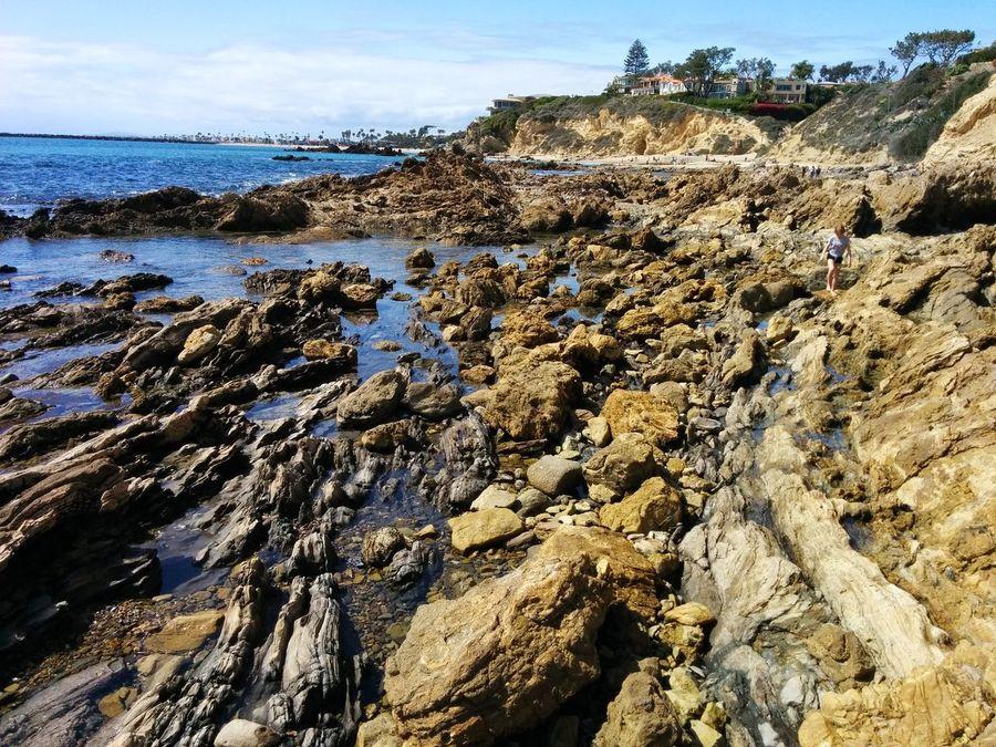Beach Beauty In Nature California Corona Del Mar Corona Del Mar Beach Corona Del Mar State Beach Day Nature No People Outdoors Rock - Object Rocks Scenics Sea Sky Water