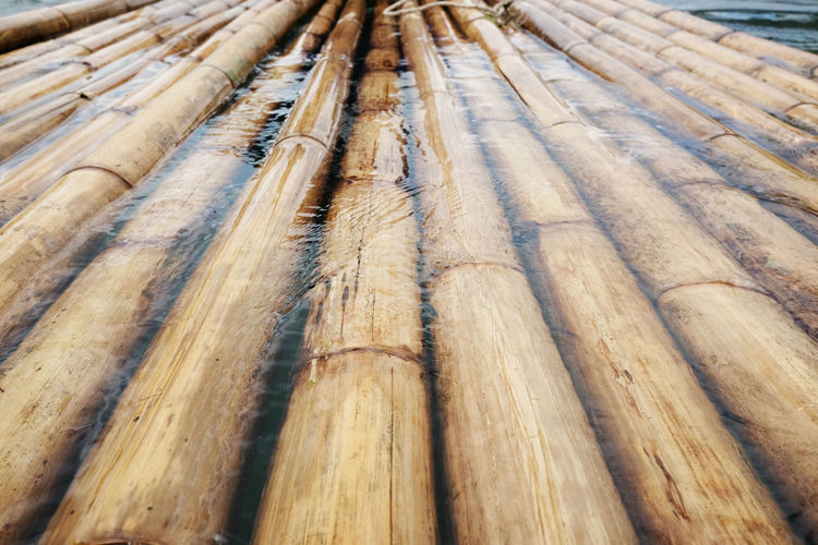 Backgrounds Bamboo - Material Bambooraft Day Industry Nature No People Outdoors River Timber Wood - Material