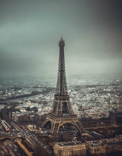 Eiffel Tower, Architecture Built Structure Building Exterior City Travel Destinations Sky Tower Tourism Tall - High Travel History The Past Cityscape No People Building Cloud - Sky Nature Day Outdoors Office Building Exterior Skyscraper Spire  Eiffel Tower Paris Paris, France