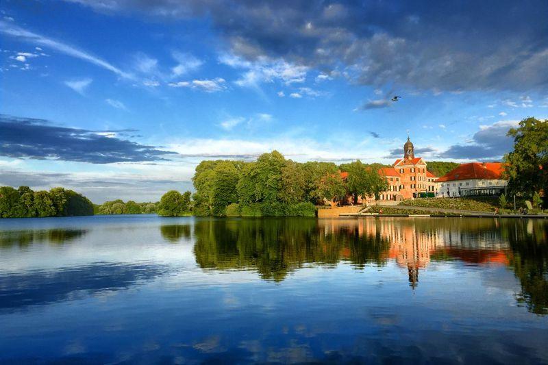 Eutin Castle Eutin Möwe Gull Water Reflection Sky Scenics Castle Schloss Schloss Eutin