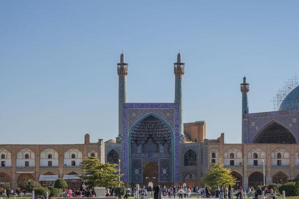 Shah or Imam, Emam Mosque at Meidan-e Emam, Naqsh-e Jahan, Imam Square, UNESCO World Heritage Site, Isfahan, Iran. Built Structure Imam Isfahan Mosque Naqsh-e Jahan Sq Religion Shah Spirituality Travel Destinations