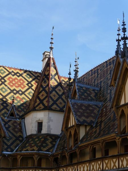 Bourgogne Beaune Hospices Architecture Building Exterior Built Structure Roof Low Angle View No People Day Outdoors House Sky Residential Building Tiled Roof