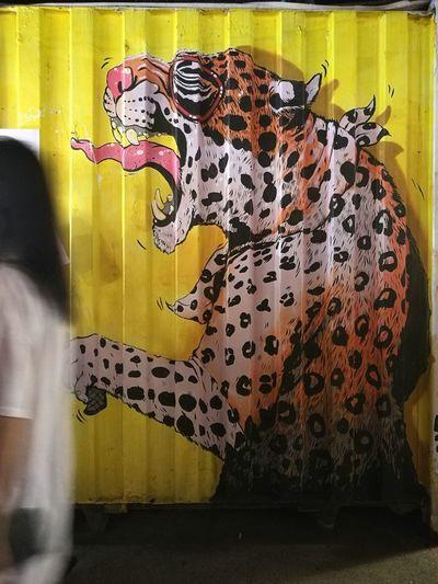 Spotted Leopard Yellow Animal Pattern Mammal No People Cheetah Day Animal Themes Indoors  Artboxbkk Artboxbangkok Artbox Art Huaweiphotography HuaweiP9Photography Container Huawei P9 Leica HuaweiP9 Close-up Lifestyles