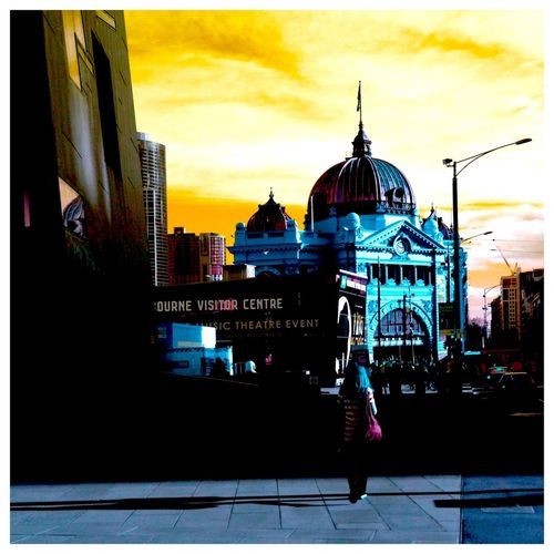 Iconic Melbourne Flinders St #Melbourne Color Pop A Different Point Of View