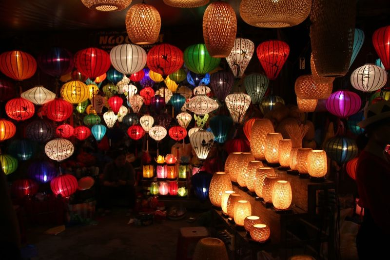Illuminated Chinese Lanterns At Shop