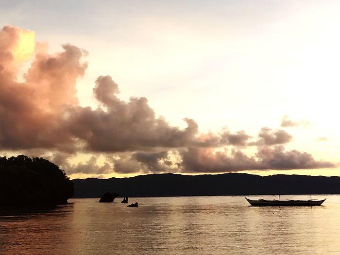 Golden Hour Orange Sunset Goldensunset Water Beach Mountain Tree Silhouette Lake Sunset Sky