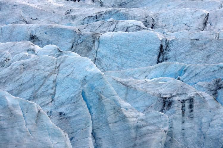 Full frame shot of ice glacier