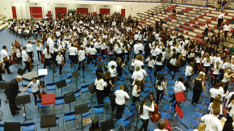 Large Group Of People People Seats Concert Orchestra Orchestra Concert  Middle School High School School Events