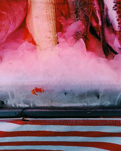Pink Color Close-up No People Zenfone Photography Textures And Surfaces Texture Abstract Textured  Pattern Striped Fish Fish Market Death