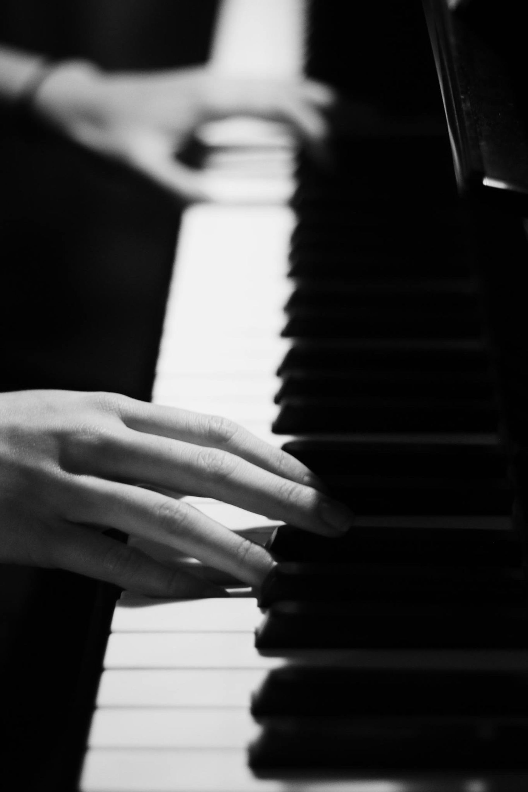 person, indoors, part of, human finger, cropped, holding, music, musical instrument, piano, close-up, piano key, selective focus, unrecognizable person, lifestyles, men, focus on foreground, musical equipment