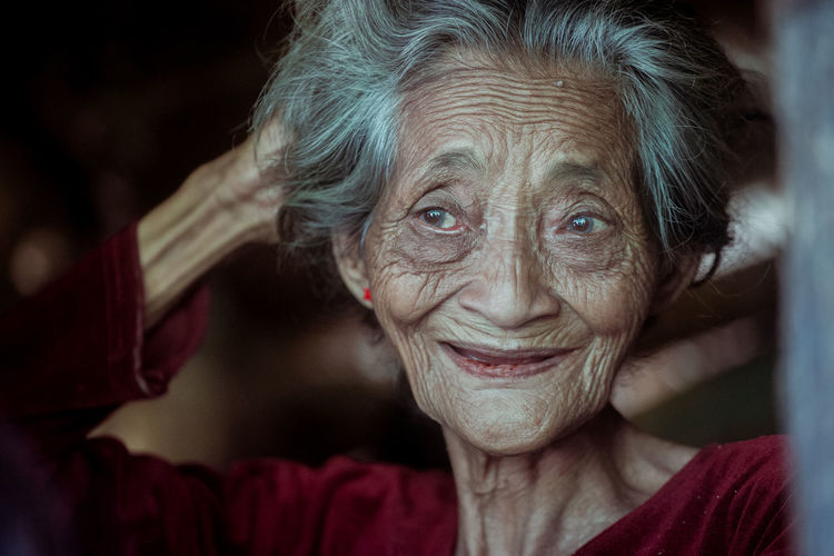 Future face [forecast] Portrait Portrait Of A Woman Human Interest Human Interest Indonesia Faces Of EyeEm Old Man Old Woman Human Interest Headshot Close-up Human Eye Iris - Eye Eyesight Vision Eye Eyeball