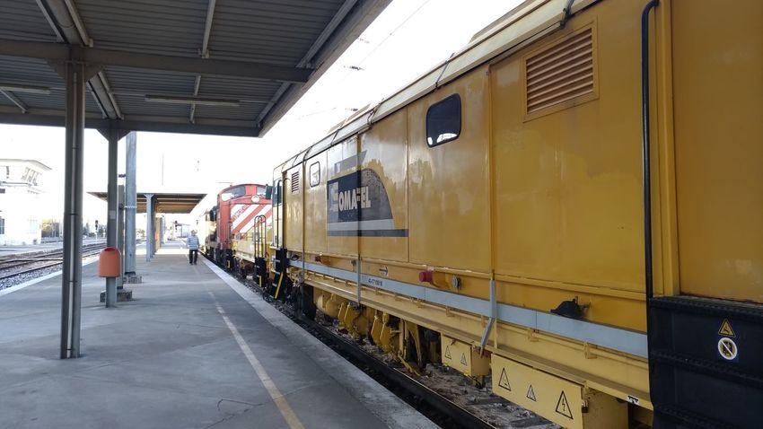 Railroad Track Rail Transportation Public Transportation Train - Vehicle Sky