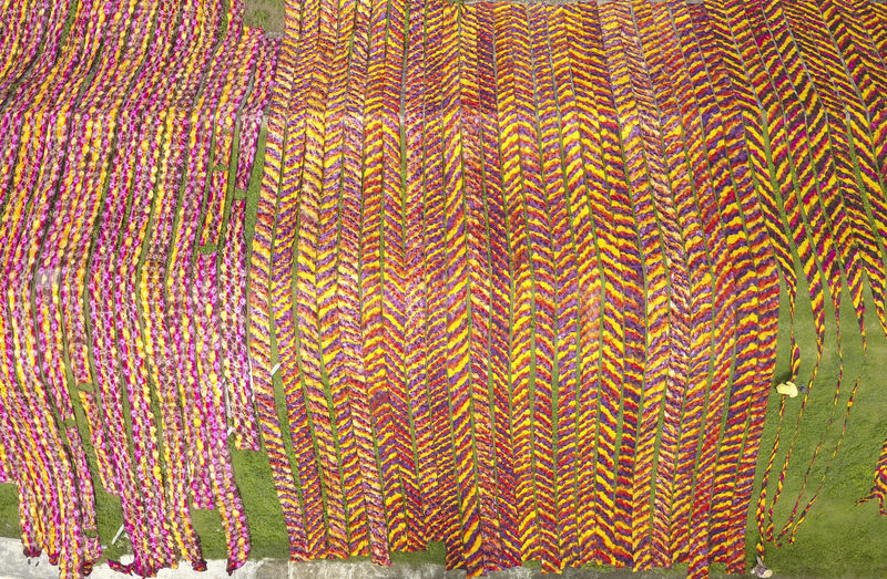 View from above Fabric drying Aerial Shot Colors Indonesian Industry Java Abstract Aerial View Art And Craft Backgrounds Creativity Design Drying Fabric Jawatengah Multi Colored Nature Outdoor Outdoors Pattern Sukoharjo Textile Textured