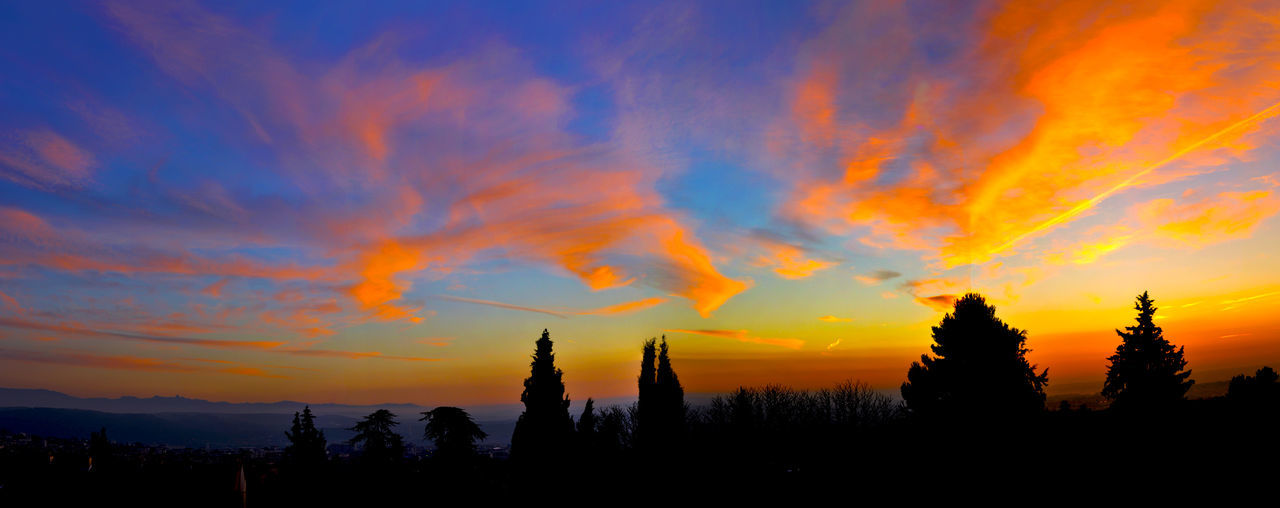 Aix En Provence Beauty In Nature Cloud - Sky From Balcony Landscape Nature No People Outdoors Scenics Silhouette Sky Sunset Tranquil Scene Tranquility Tree