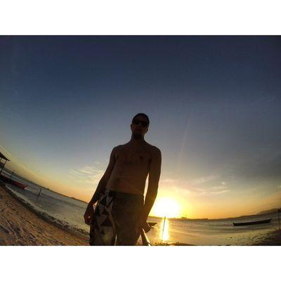Pôr do Sol. Gopro Beach Paradise Trippics
