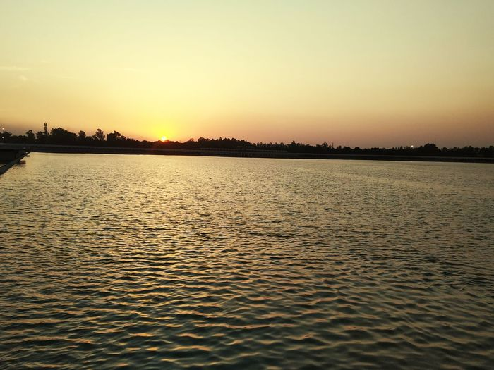 <3 peace of mind Sunset_collection Wave Water Water Sunset Beauty Lake Reflection Low Tide Sky