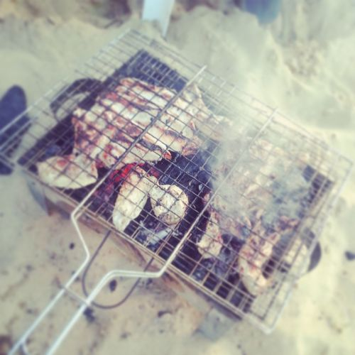 Beach Today Had Fun BBQing