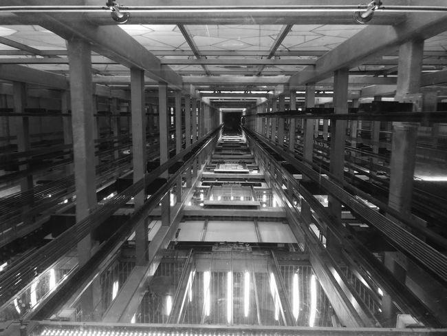 Shaft Elevator Shaft Elevators Lift Transit Up Glass The City Light