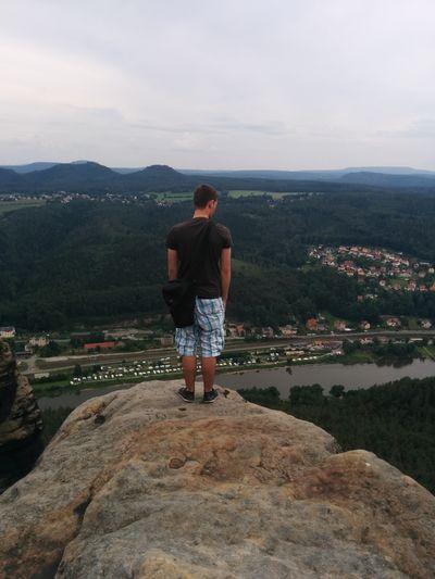 Mein Bro  Lilienstein Gute Aussicht  Felsen