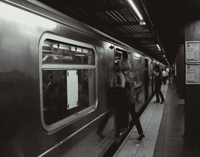 Subway Train Subway Travel People New York USA