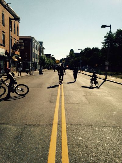 The City City Life Boston, Massachusetts Blockparty Community Peace Smiles Children Playing Bikes Fun Safe Family