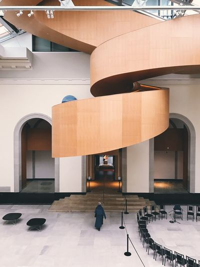 Architecture Architecture Circular Stairway Day Design Indoors  Museum No People Spiral Staircase Spiral Stairs Staircase Symmetrical Toronto Wooden Staircase Wooden Stairs Wooden Structure Wooden Texture The Architect - 2017 EyeEm Awards