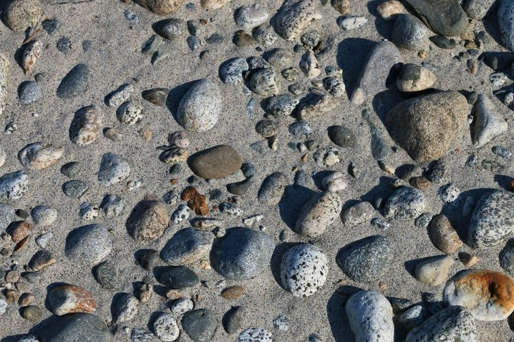 Land Beach Sand No People Nature Backgrounds Full Frame High Angle View Day Close-up Pattern Rock Solid Outdoors Paw Print Textured  Stone Stone - Object Rock - Object Pebble