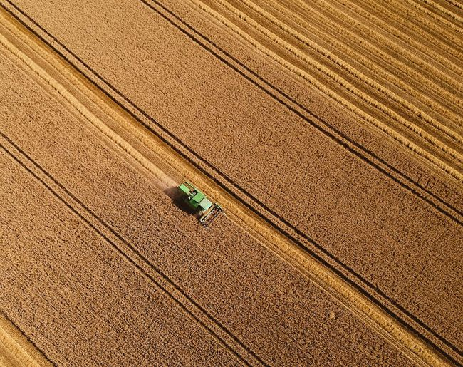 Drone Photography Farm Agricultural Machinery Day Harvesting Landscape Aerial View Tractor Field First Eyeem Photo EyeEmNewHere EyeEmNewHere