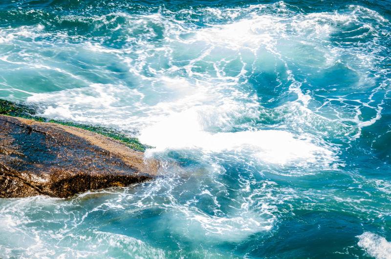 Sea Water Splashing At Shore