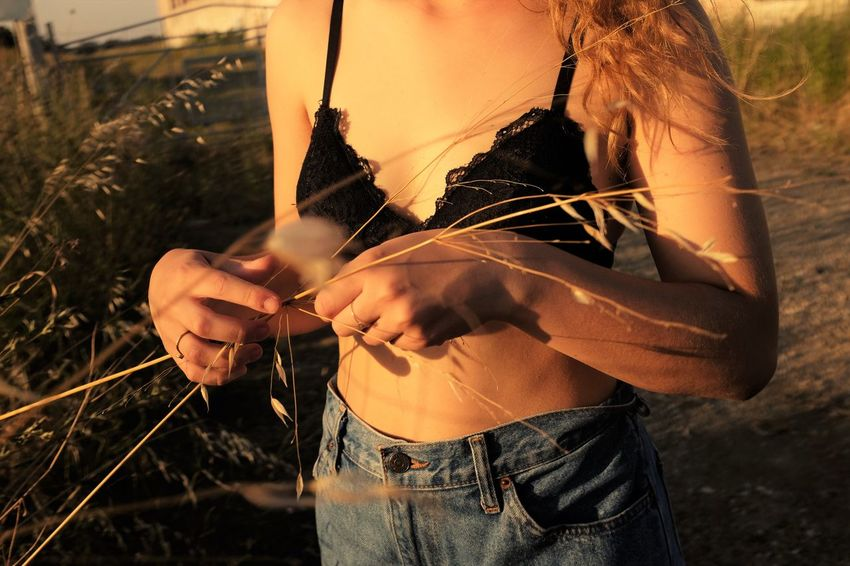 Afternoon Casual Clothing Close-up Day Denim Focus On Foreground Hand Hands Holding Leisure Activity Lifestyles Light And Shadow Nature Outdoors Part Of Sensual_photo Sensual_woman Sunset