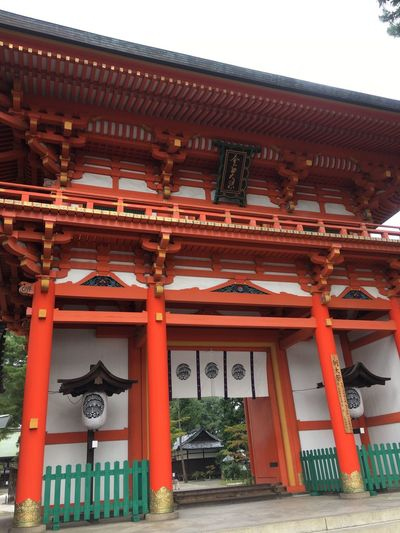 Kyoto 京都 神社 今宮神社 Architecture Built Structure Building Exterior Gate No People Day Outdoors Low Angle View Place Of Worship Roof Sky