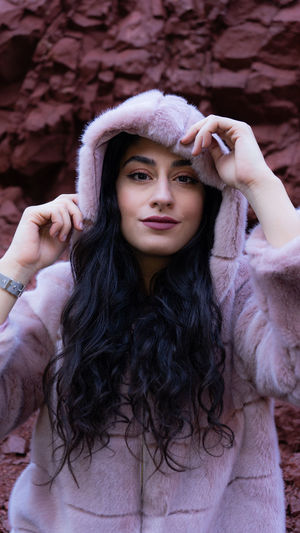 Long Hair Women Hair Beautiful Woman Clothing Waist Up Young Adult Lifestyles Young Women Leisure Activity Looking At Camera Real People One Person Portrait Hairstyle Warm Clothing Focus On Foreground Front View Beauty Smiling